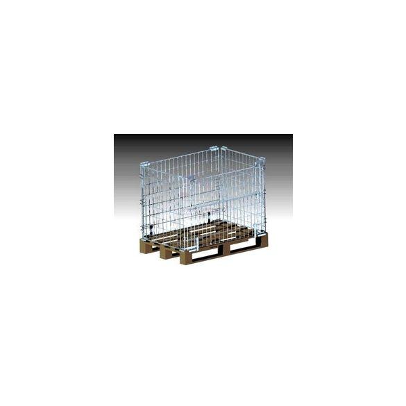 AB0030 Összecsukható rácsos raklap magasító, raklap feltét 1200x800x850 mm