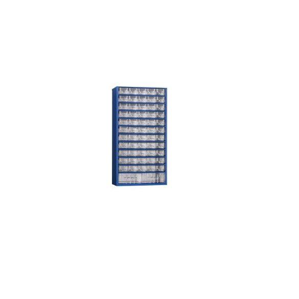 MB Alkatrésztároló szekrény 57 dobozzal 306x155x578 mm