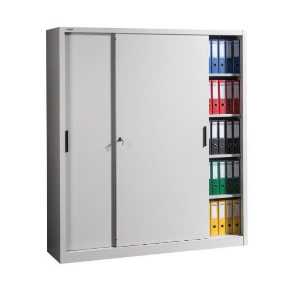 Tolóajtós szekrény 2x4 polccal 1800x450x2000 mm
