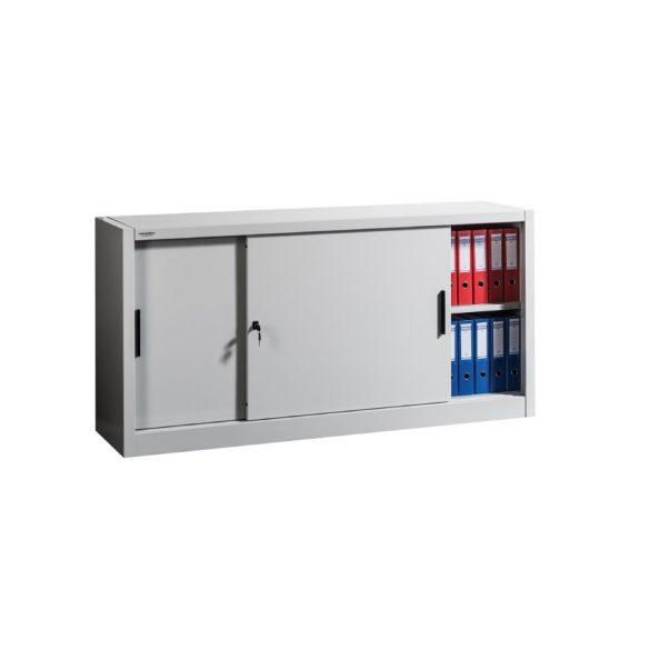 Tolóajtós szekrény 2x1 polccal 1800x450x900 mm