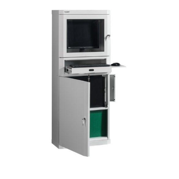 Számítógép tároló szekrény 650x300x1630 mm