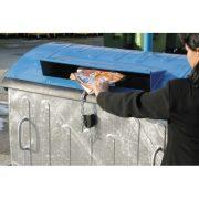 1 100 L-es fém szelektív papírgyűjtő konténer