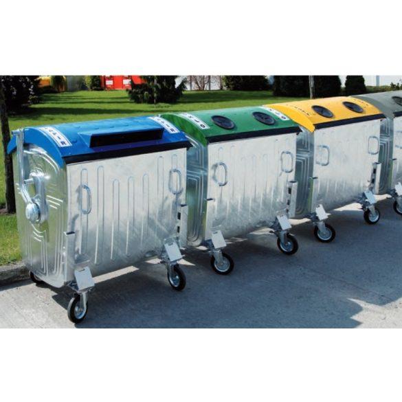 1 100 L-es fém szelektív üveggyűjtő konténer