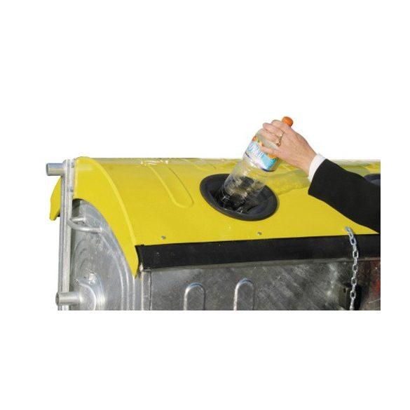 1 100 L-es fém szelektív műanyaggyűjtő konténer