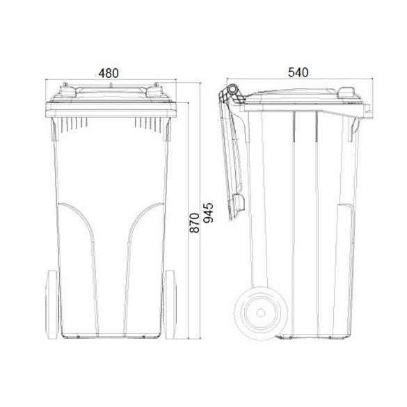 120 literes BIO hulladékgyűjtő rosttal