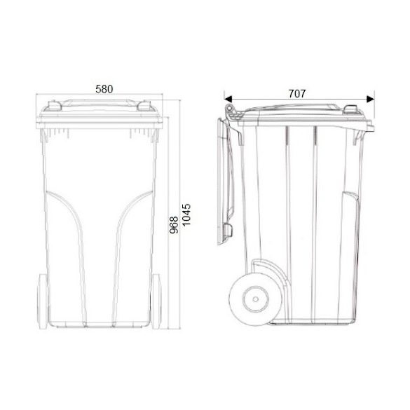 240 literes BIO hulladékgyűjtő