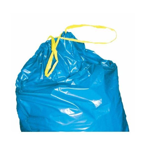 Kötözőszalagos 60 literes  műanyag hulladékgyűjtő zsák