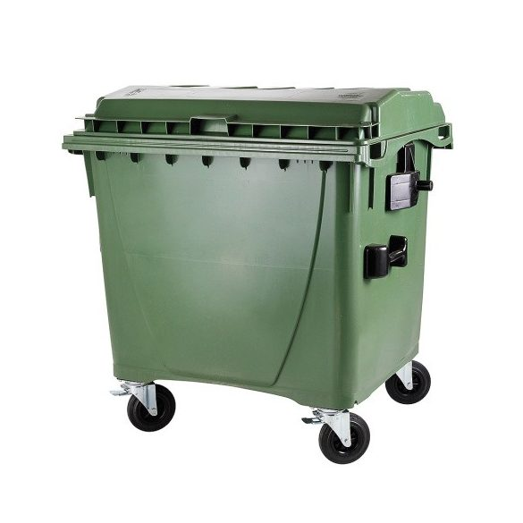1 100 L-es nagyméretű hulladékgyűjtő lapos tetejű konténer
