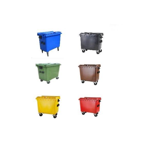 660 L-es lapostetejű hulladékgyűjtő konténer