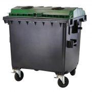 1 100 L-es nagyméretű  lapos tetejű üveggyűjtő konténer