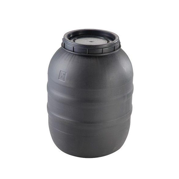 160 literes műanyag csavarmenetes tetejű hordó, higéniailag alkalmas