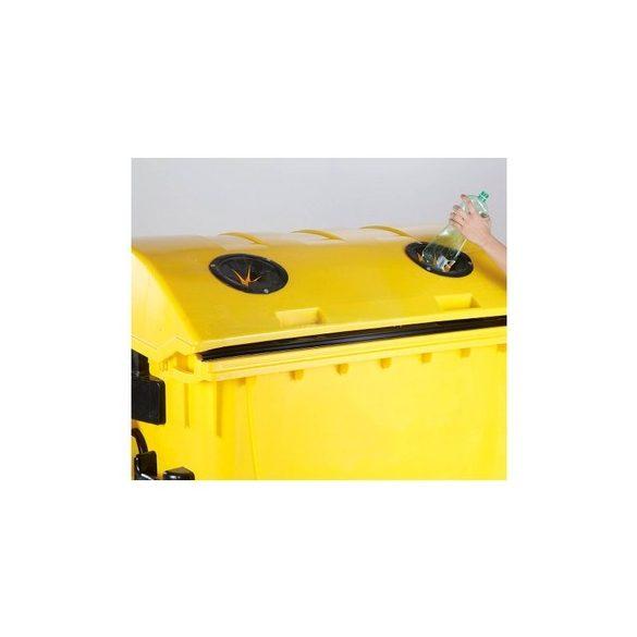 1 100 L-es nagyméretű szeméttároló íves tetejű PET palackgyűjtő konténer