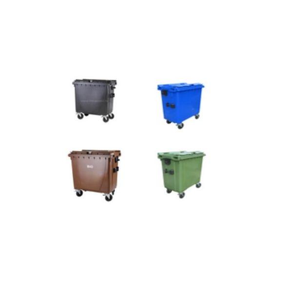 770 L-es lapos tetejű hulladékgyűjtő tartály