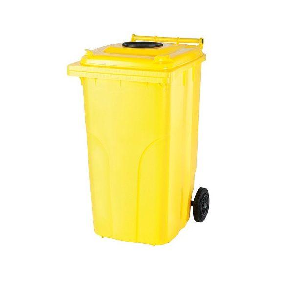 240 literes kerekes műanyag hulladékgyűjtő bedobónyílással
