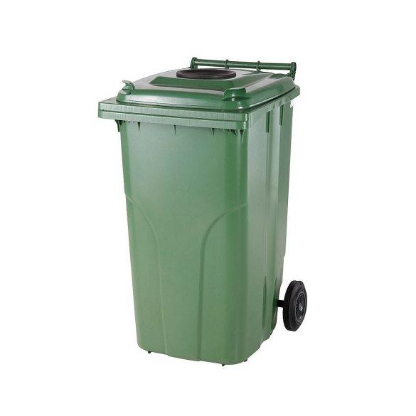240 literes kerekes műanyag üveg hulladékgyűjtő bedobónyílással