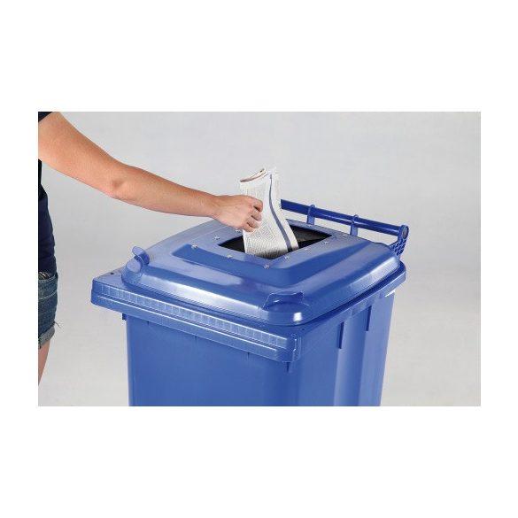 240 literes kerekes műanyag papír hulladékgyűjtő bedobónyílással