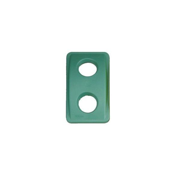 Fedél üvegre - zöld
