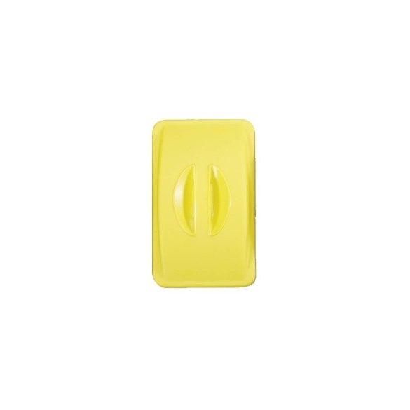 Fedél bedobónyílás nélkül - sárga