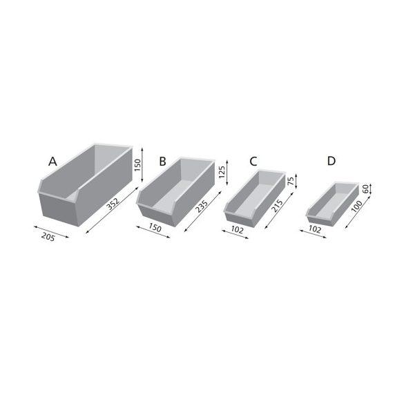 Műhelyszekrény, 750x300x1650 mm