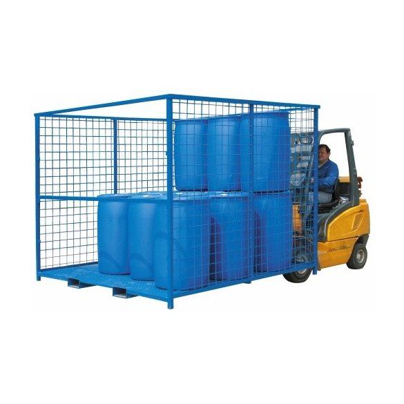 Rácsos áruszállító és tároló keret, 2400x2000x1800 mm