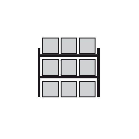 Összerakható polcállvány, 2700x1100x3300 mm