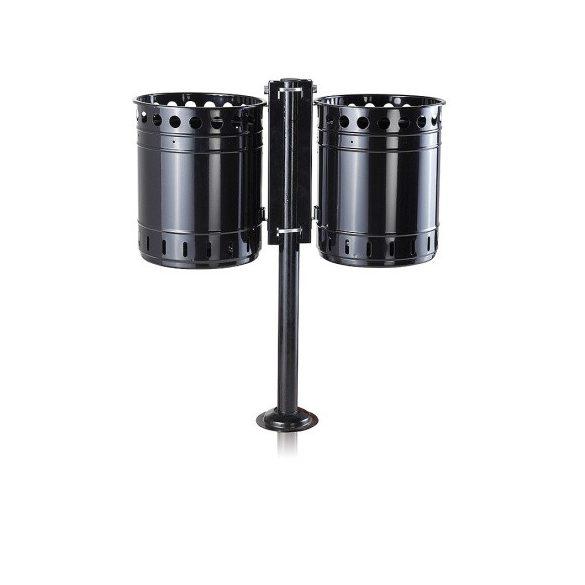Kétkosaras hulladékgyűjtő, 2x35 L, 821x351x948 mm