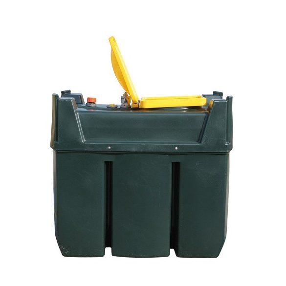 Tároló edény használt olajra, 600 L, 820x1330x1330 mm