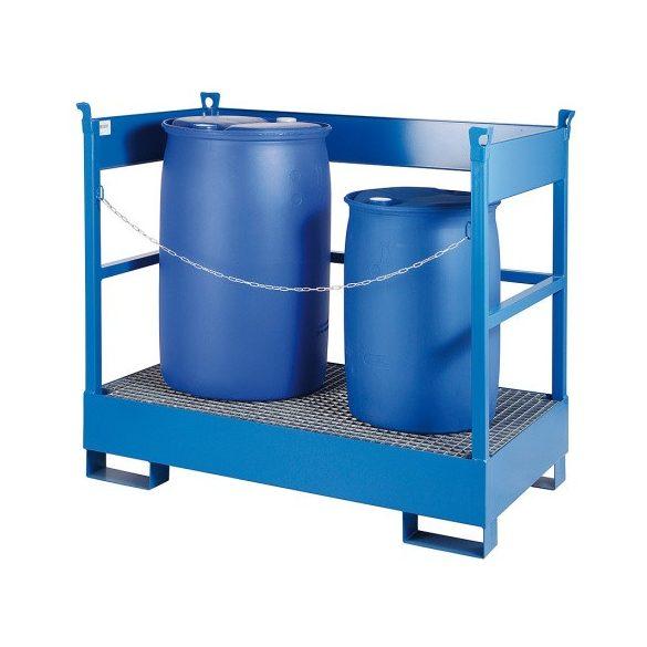Gyűjtőkád szállításhoz 2 hordós, 1400x800x1300 mm, 220 L