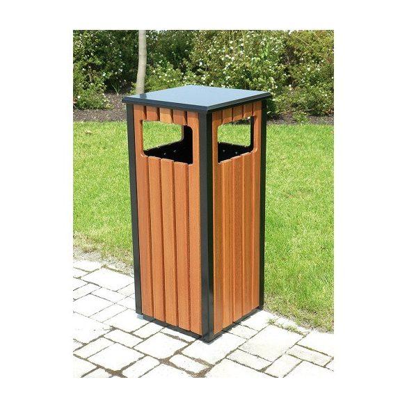 Szögletes hulladékgyűjtő-Madrid, 35 L, 350x350x780 mm