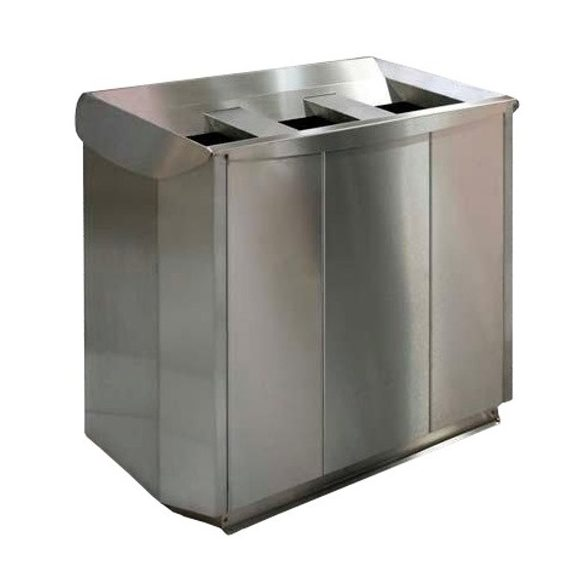 Triplex hulladéktároló, 3x57 L, 974x520x835 mm