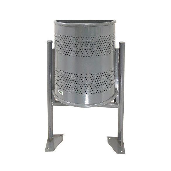 Félkör alakú hulladék tároló, 30 L