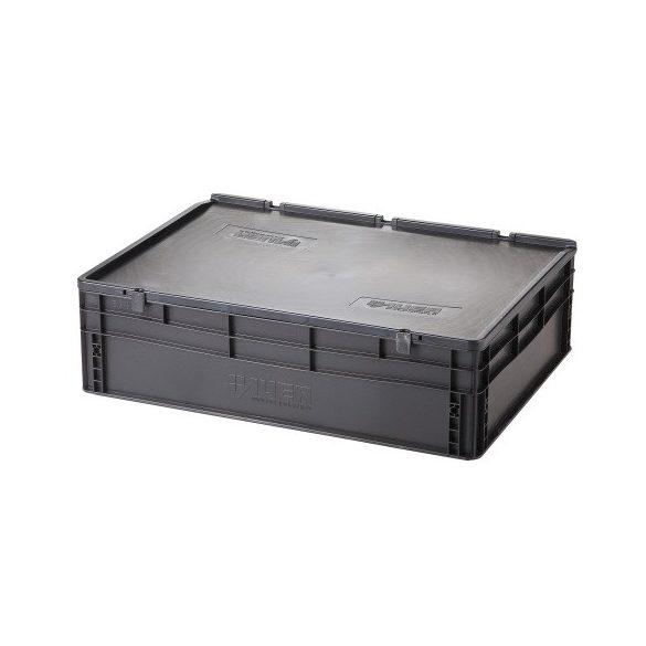Műanyag tároló doboz fedéllel 800x600x235 mm
