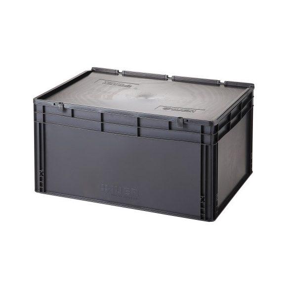 Műanyag tároló doboz fedéllel 800x600x420 mm