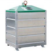 1 500 literes szelektív alsó ürítésű üveg hulladékgyűjtő