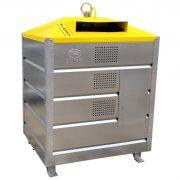 1 500 literes szelektív alsó ürítésű műanyag hulladékgyűjtő