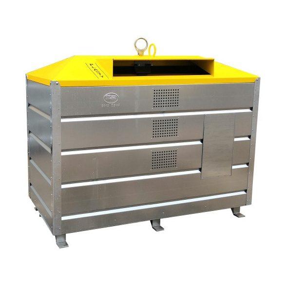 2 500 literes szelektív alsó ürítésű műanyag hulladékgyűjtő