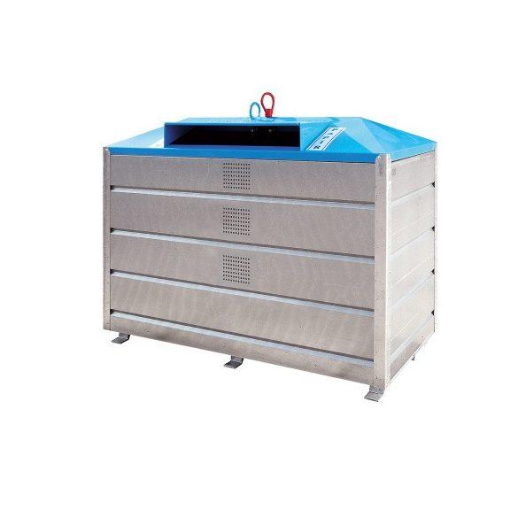 2 500 literes fém szelektív alsó ürítésű papír hulladékgyűjtő