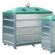 2 500 literes szelektív alsó ürítésű üveg hulladékgyűjtő