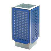 Perforált borítású hulladék tároló edény, 70 L, 405x405x800 mm