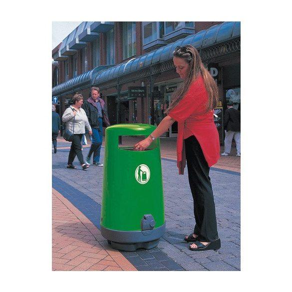 TOPSY műanyag hulladékgyűjtő, 90 l, Ø 543x1000 mm