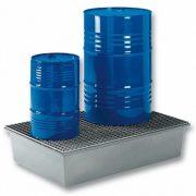 Műanyag gyűjtőkád két hordó tárolására, 850x1280x290 mm, 220 L