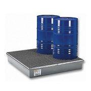 Műanyag gyűjtőkád négy hordó tárolására, 1280x1280x210 mm, 220 L