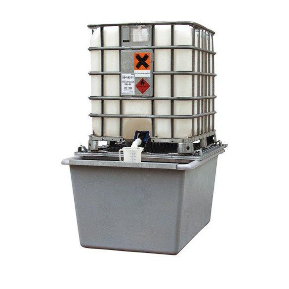 1000 L műanyag gyűjtőkád, 1190x1620x910 mm