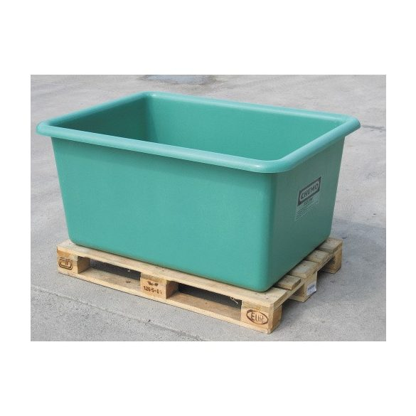 Üvegszövetbetétes edény 200 L, 800x490x590 mm