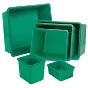 Üvegszövetbetétes edény 400 L, 1110x710x590 mm