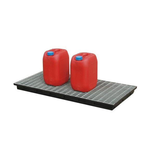 Műanyag kád rács nélkül, 620x1300x80 mm, 40 L