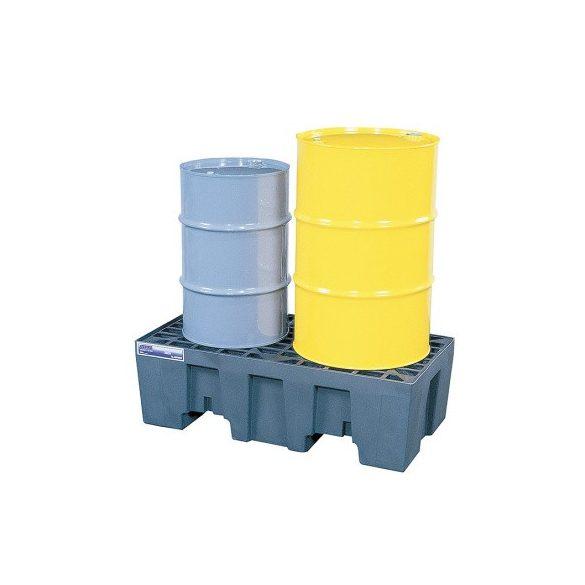 Műanyag gyűjtőkád két hordó tárolására, 1245x635x394  mm
