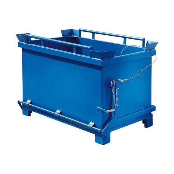 1500 literes fém láda nyitható aljjal, 1500x1080x1320 mm