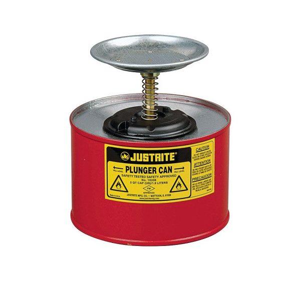 Justrite – 2 l nedvesítő edény gyűlékony anyagra, ø 184x200 mm