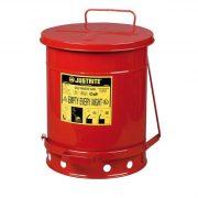 Justrite – Biztonsági pedálos hulladékgyűjtő 38 L
